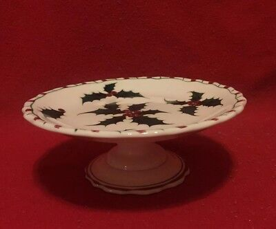 Raised 6 Inch Plate Christmas Themed