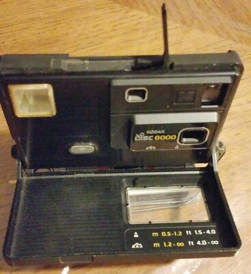 Vintage Eastman Kodak Disc 6000 Camera made in 1983 with metal strap