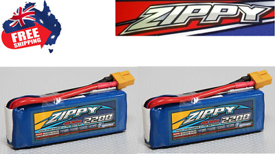 2Pack ZIPPY FLIGHTMAX 2200mAh 2S 20C 7.2v LIPO Battery XT60 Plug RC Drone Plane