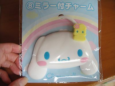 Sanrio Cinnamoroll  too cute ♡ Bag Charm with Mirror from Japan RARE