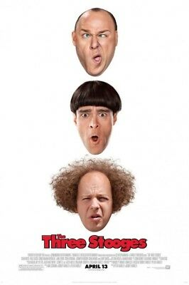 THE THREE STOOGES great original 27x40 D/S movie poster (s01)