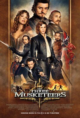 THREE MUSKETEERS great original 27x40 D/S movie poster (s01)