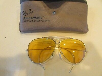 B&L Ray Ban Vintage Bullet Hole Kalichrome Shooting Glasses and Case