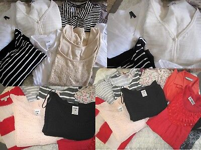 18 Ladies Tops & Blouses & Cardigan - Size 12 & 14 - Everyday Wear or Re-sale