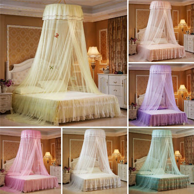 AU Kid Baby Bed Canopy Princess Bedcover Mosquito Net Curtain Bedding Round Dome
