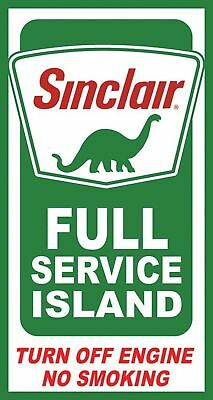 Sinclair Island Service Tin Sign 9 x 16in New