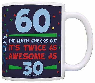 Birthday Gifts For All 60th Birthday Twice as Awesome Birthday Gag Gift C... New