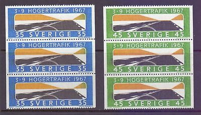 Sweden  1967  Introduction of RH Driving x 3, MNH.