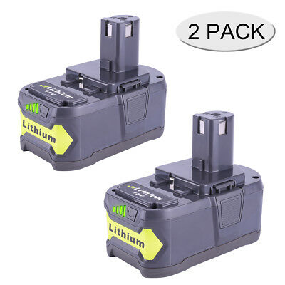 2-Pack Lithium ion Battery for Ryobi 18V 4.0Ah ONE PLUS RB18L50 RB18L40 RB18L13