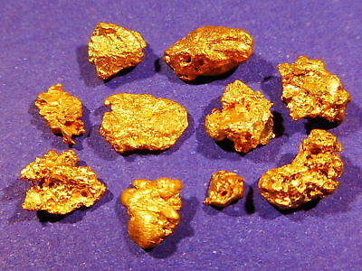 10 Sparkling Clean Australian Gold Nuggets ( 2.50 grams ).+ FREE GIFT.
