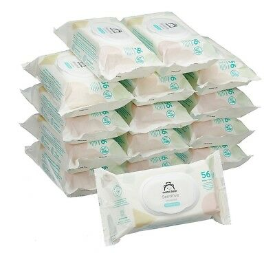 Mama Bear Sensitive Unscented Baby Wipes Pack of 15 Total 840 Wipes Aloe Vera