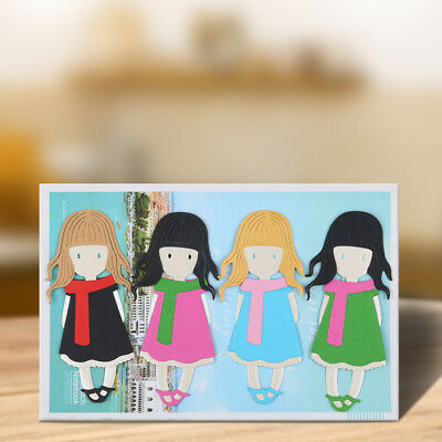 Scarf Girl Metal Cutting Dies Stencils For Scrapbooking Paper Cards Crafts DIY