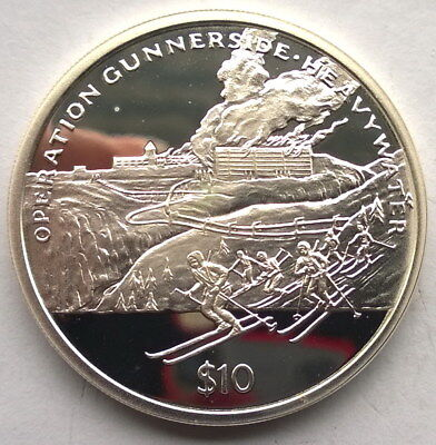 Sierra Leone 2005 Heavy Water Raids 10 Dollars Silver Coin,Proof