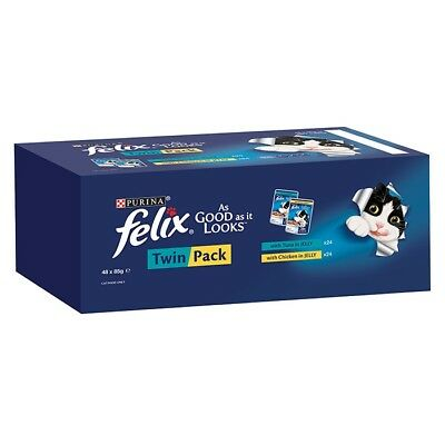 Felix As Good As It Looks Twin Pack Adult Cat Food 85g x48