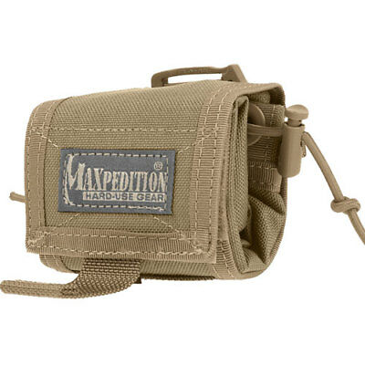 Maxpedition Rollypoly Folding Unisex Pouch Dump - Khaki One Size