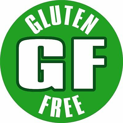 Gluten Free Labels, Waterproof Printed Self Adhesive Vinyl Stickers x108