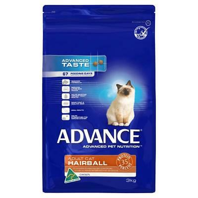 NEW Advance Hairball Adult Cat Food - 3kg