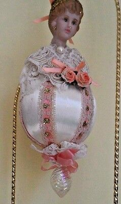 Elegant Lady Victorian Inspired Hand Made CHRISTMAS Ornament