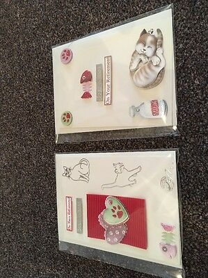 On Your Retirement Handmade Cards Cats X 2