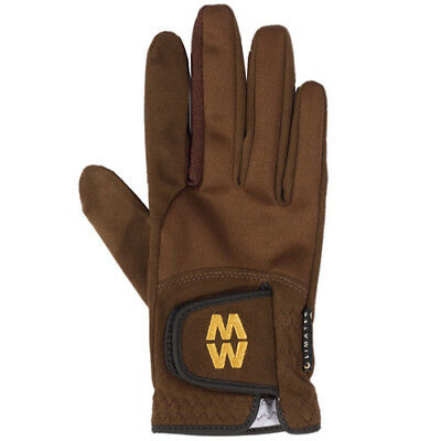 Macwet Climatec Short Cuff Unisex Gloves Everyday Riding Glove - Brown All Sizes