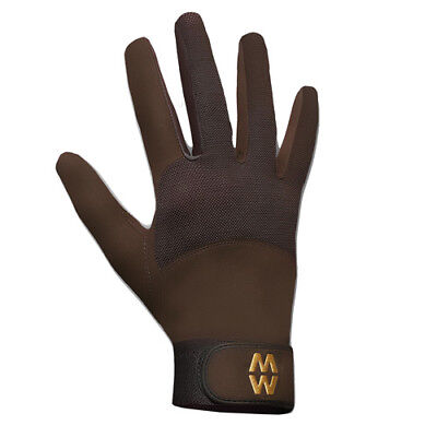 Macwet Climatec Long Cuff Unisex Gloves Everyday Riding Glove - Brown All Sizes