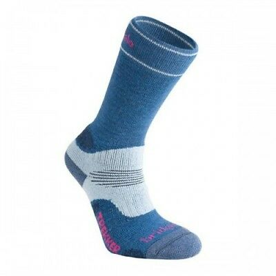 Bridgedale Wool Fusion Trekker Womens Underwear Walking Socks - Blue Sky