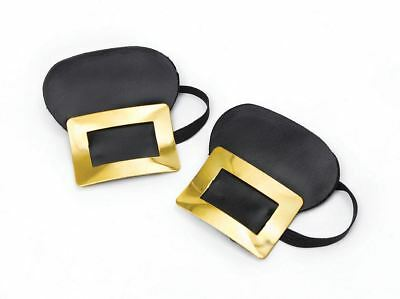 New False Shoe Buckles For Pirate Witch Medieval Historical Fancy Dress Costume