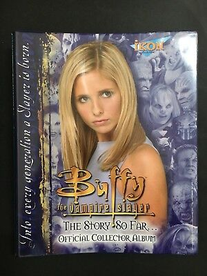 Buffy The Vampire Slayer Official Collector Card Album With Basic Card Set Of 8