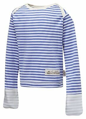 ScratchSleeves PJ top | Imperfects | Blue Stripes | Envelope Neck | Baby/Toddler