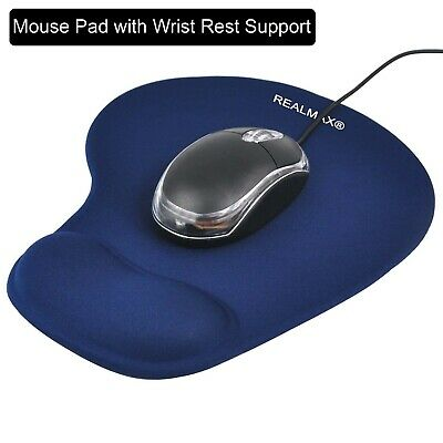 Anti-slip Comfort Mouse Pad Mat Gel Foam Rest Wrist Support Rubber base Blue -UK