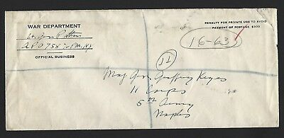 George S Patton Signed Envelope, Beckett BGS LOA, WWII General D.1945 RARE!