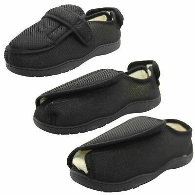 Mens EEE Fit Diabetic Orthopaedic Extra Wide Opening House Hard Sole Slippers