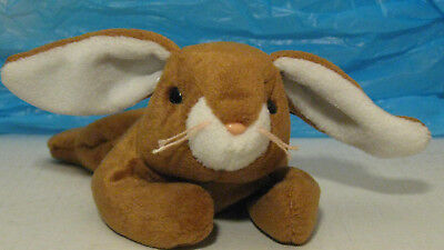 Ty Beanie Baby Ears the Bunny Rabbit 1995 Plush Stuffed Toy NWT Retired Brown