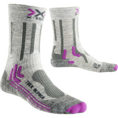 X Socks Trekking Alpaca Womens Underwear Walking - Light Grey All Sizes