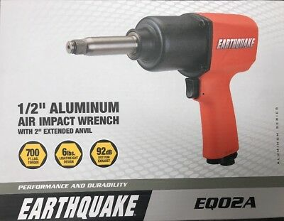 """Central Pneumatic 1/2"""" Professional Air Impact Wrench w/2"""" Extended Anvil  62746"""