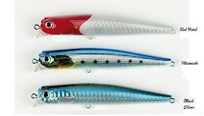 FISHING LURE  pêche Leurre DAIWA Under Surface US 1/0  LASER CLEAR RED HEAD