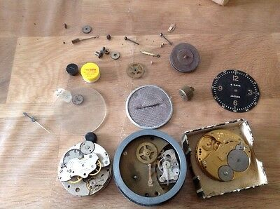 Military Clock Parts Jaeger Waltham Elgin Collection Movements For  Repair