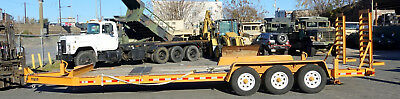 2014 Stephan L Green 25 1/2 Foot 10 Ton Equipment Trailer with Wood Deck