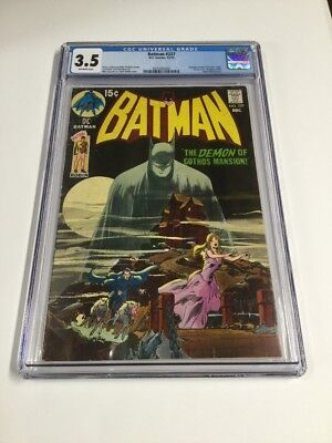 Batman 227 Cgc 3.5 Ow Pages Classic Cover