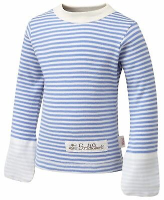 ScratchSleeves PJ top | Imperfects | Blue Stripes | Round Neck | Baby/Toddler