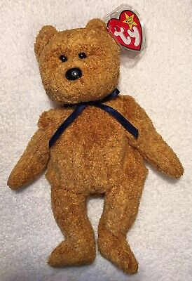 """Rare """"Fuzz"""" Ty Beanie Baby New With  Errors And Unique Hologram Tush Tag"""