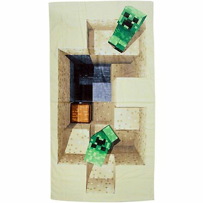 EXTRA LARGE - MINECRAFT Super Soft Beach Bath Towel - Kids Boys Girls Game Gift