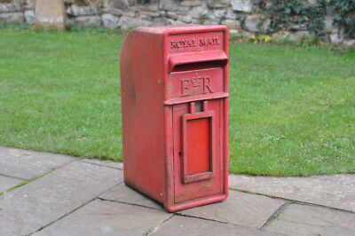 Original Royal mail box Genuine cast iron letter box Red post office box -FREE D