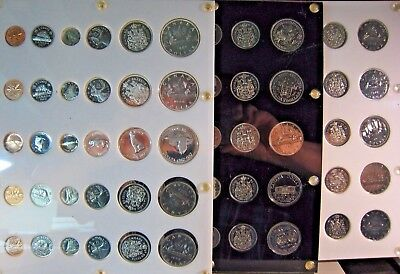 1965-1979 Canada Lot Run of 16 Specimen Coin Sets  ** FREE U.S. SHIPPING **