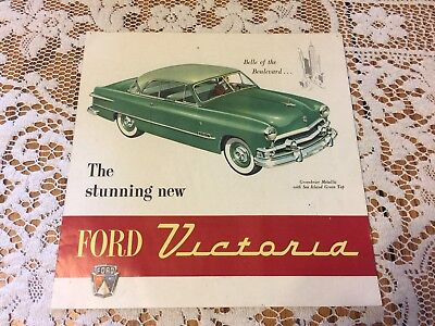 Vintage Ford Car Ad 1951 Ford Victoria