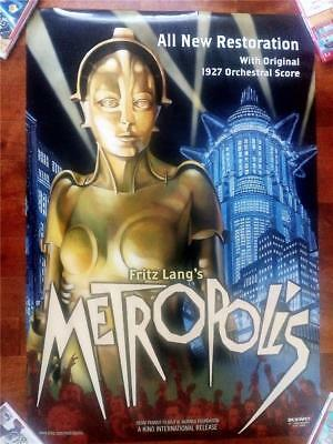 Fritz Lang Metropolis Original Vintage Double Sided Kino Rolled Sci Fi Poster