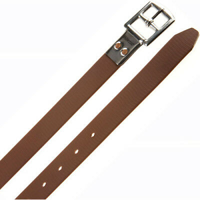 Wintec Synthetic Slimline Unisex Saddlery And Equipment Stirrup Leathers - Brown