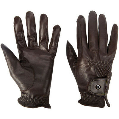 Dublin Show Unisex Gloves Everyday Riding Glove - Brown All Sizes