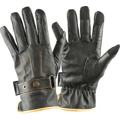 Dublin Leather Thinsulate Winter Unisex Gloves Everyday Riding Glove - Black