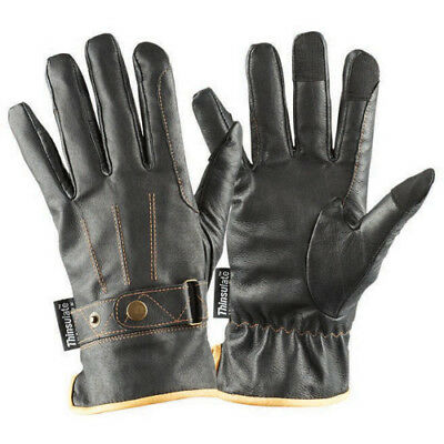 Dublin Leather Thinsulate Winter Unisex Gloves Everyday Riding Glove - Brown